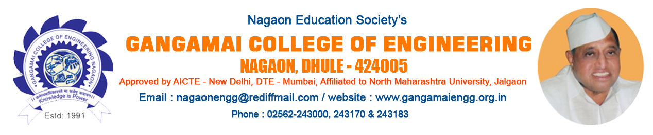 Gangamai College of Engineering :College of Engineering | College of Pharmacy | pollytechnic | Arts | Science | Commerce | Best Engg college in NMU m| North Maharashtra University Best College For Bright Future Dhule | North Maharashtra University – NMU